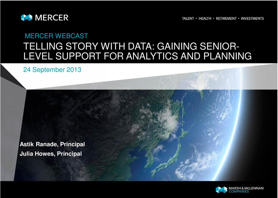 ANALYTICS AND PLANNING 24 September 2013