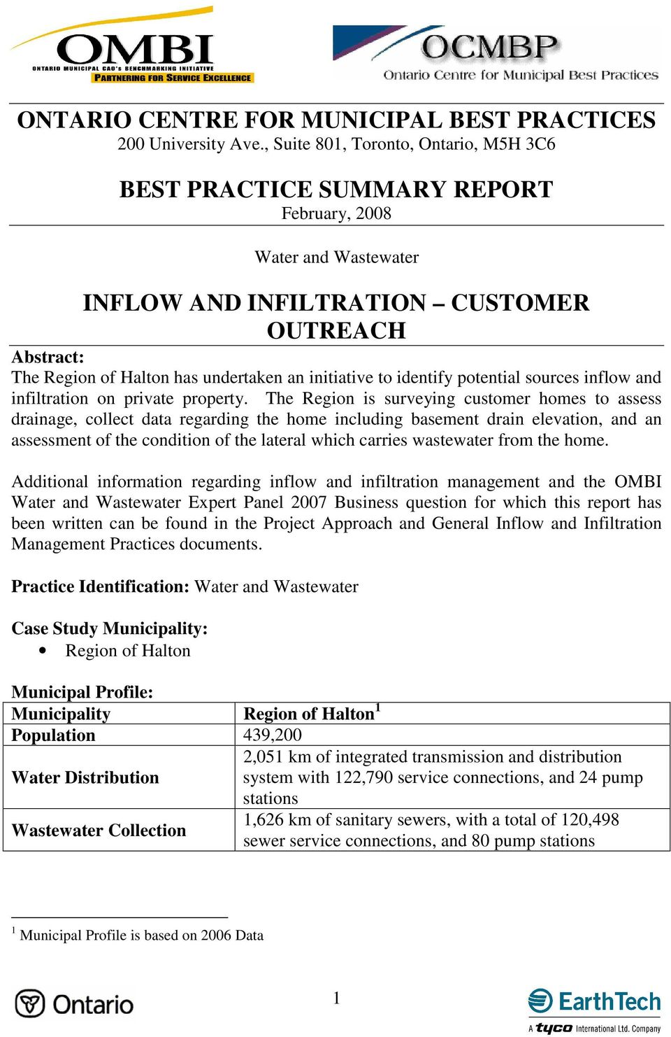 initiative to identify potential sources inflow and infiltration on private property.