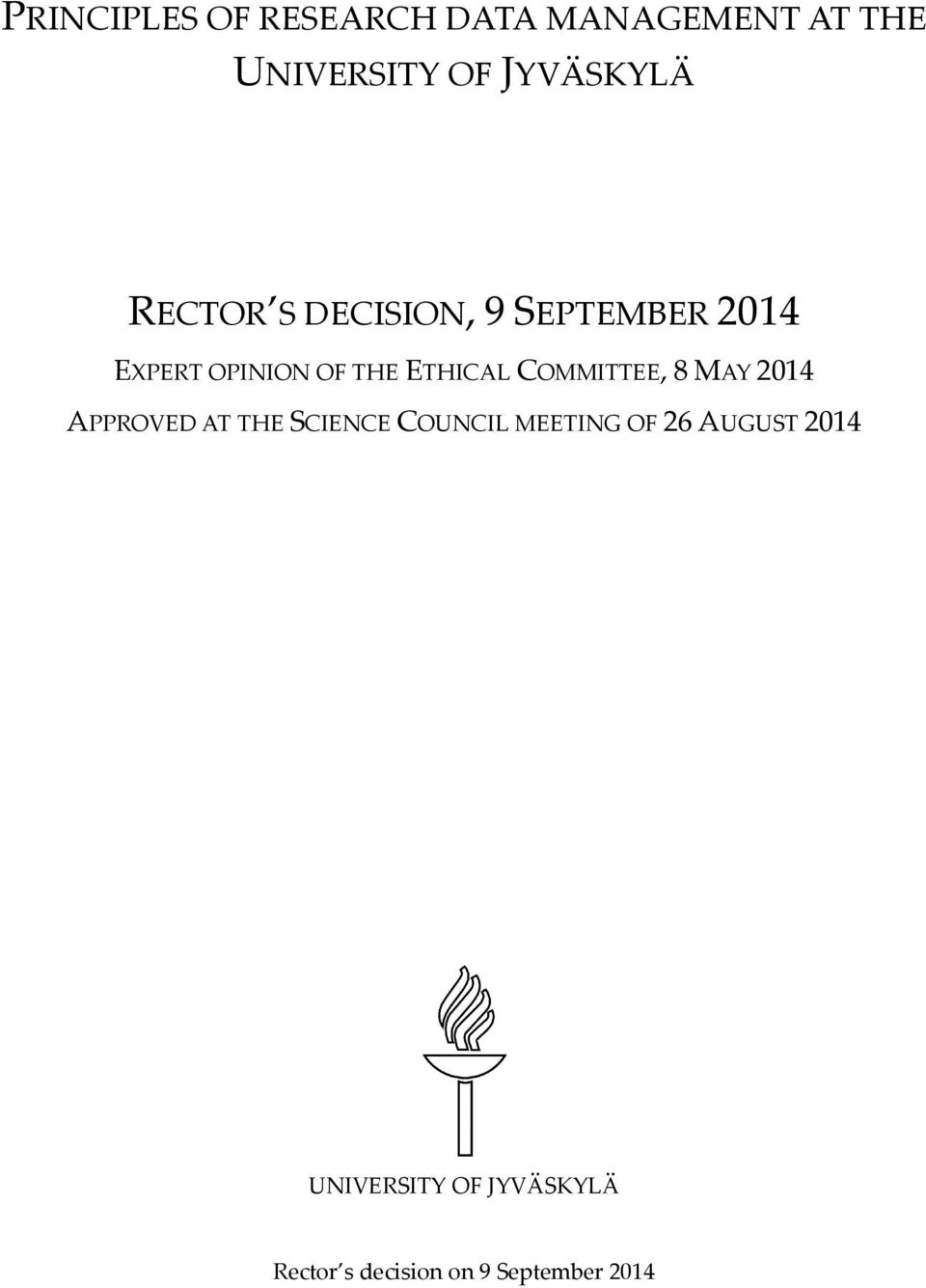 COMMITTEE, 8 MAY 2014 APPROVED AT THE SCIENCE COUNCIL MEETING OF 26