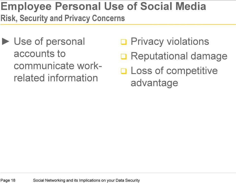 communicate workrelated information Privacy