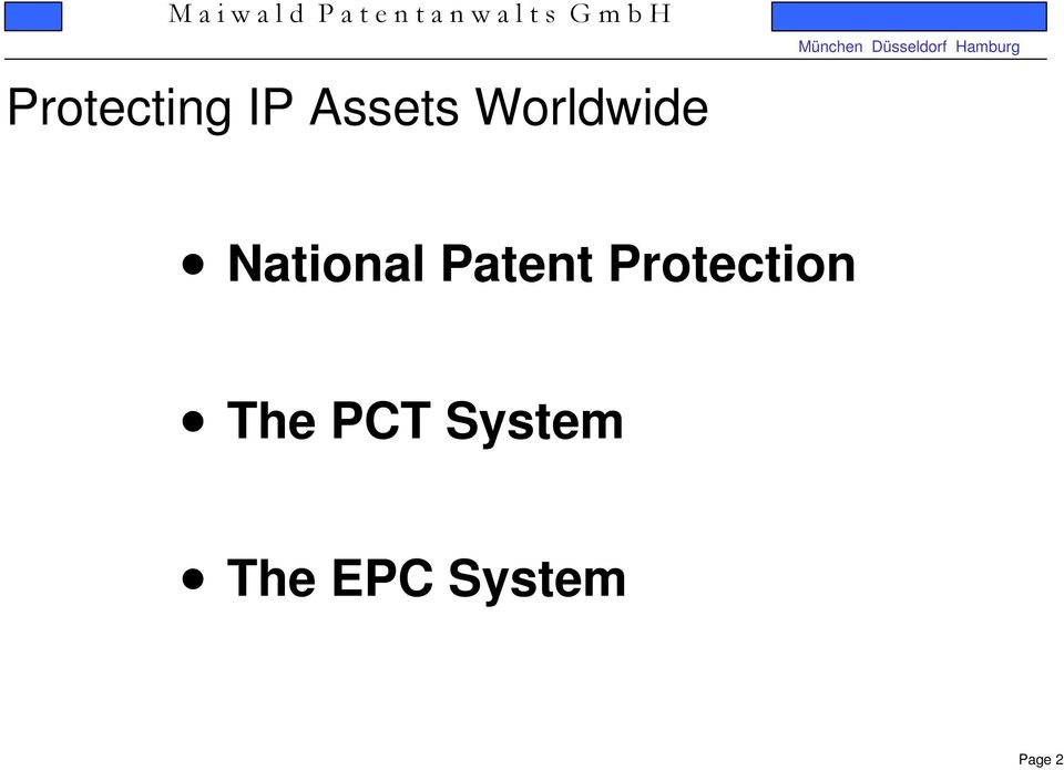 Patent Protection The