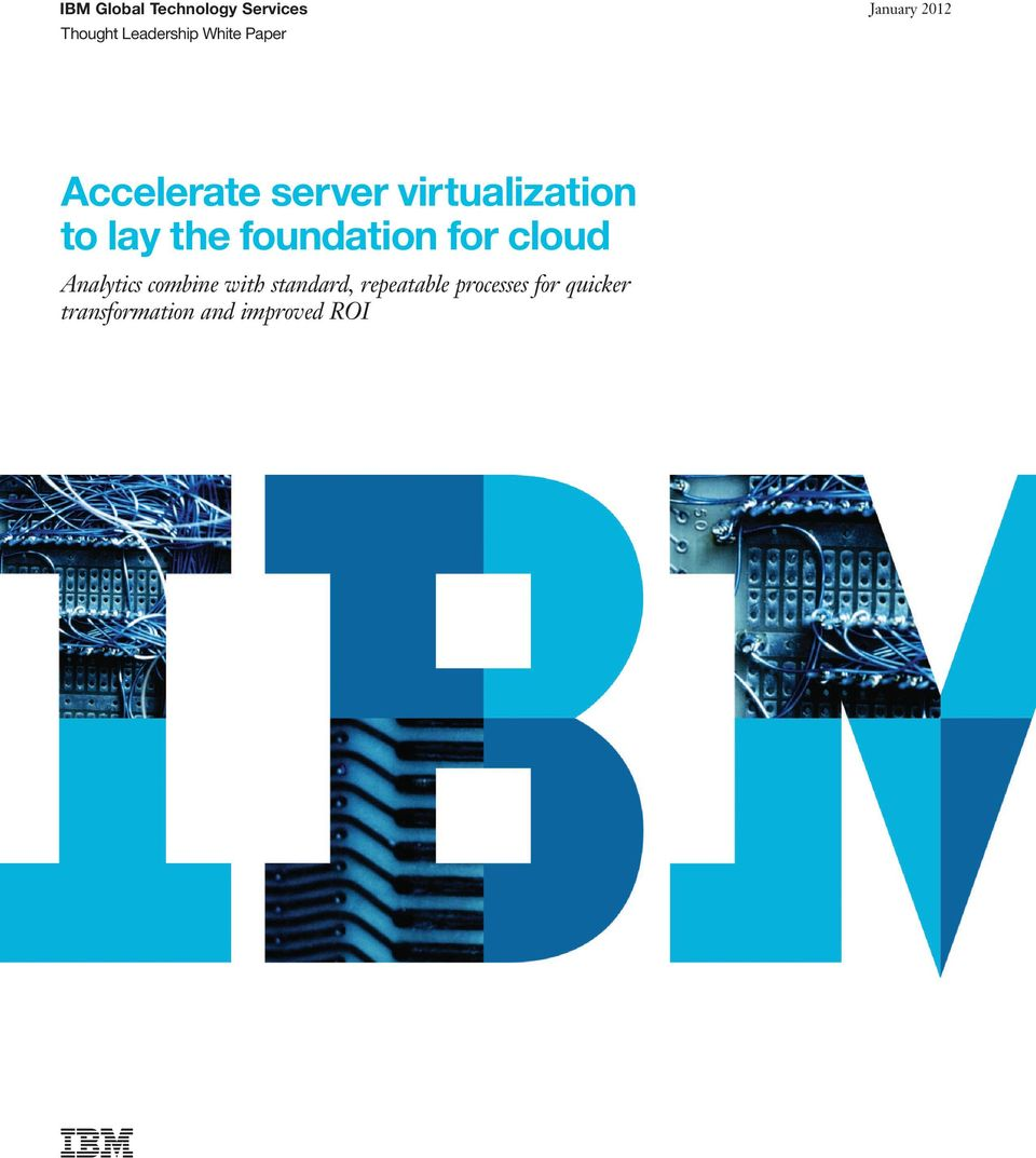 the foundation for cloud Analytics combine with standard,