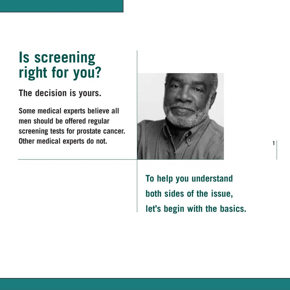 screening tests for prostate cancer.