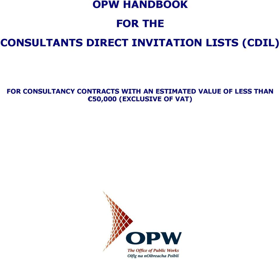 CONSULTANCY CONTRACTS WITH AN