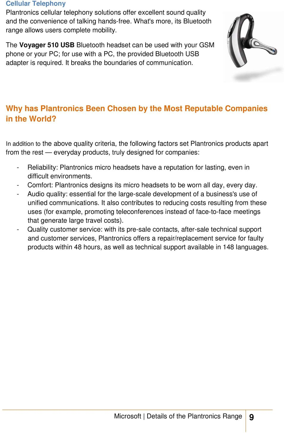Why has Plantronics Been Chosen by the Most Reputable Companies in the World?