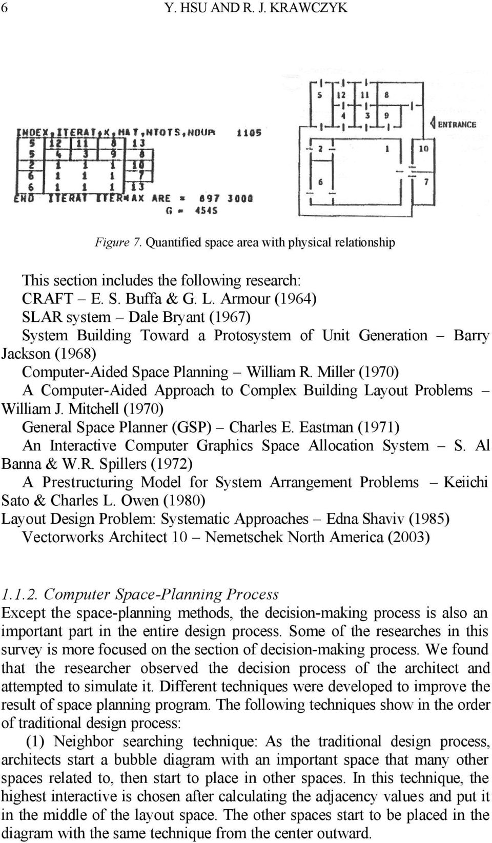 Miller (1970) A Computer-Aided Approach to Complex Building Layout Problems William J. Mitchell (1970) General Space Planner (GSP) Charles E.