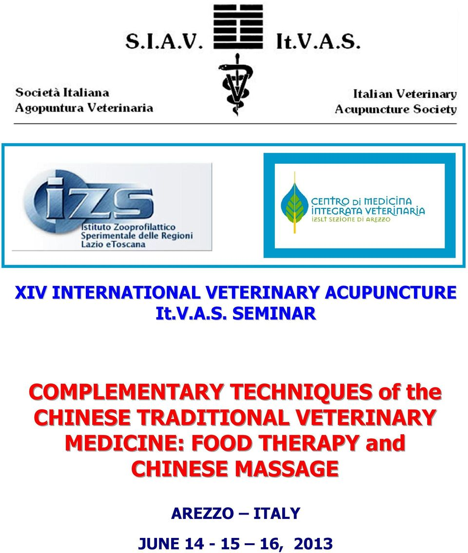 TRADITIONAL VETERINARY MEDICINE: FOOD THERAPY and