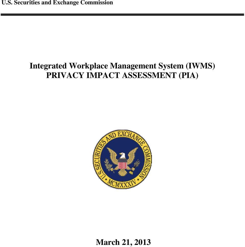 (IWMS) PRIVACY IMPACT