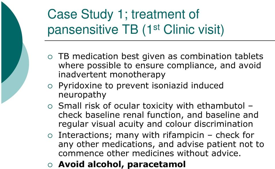 pansensitive TB (1 st
