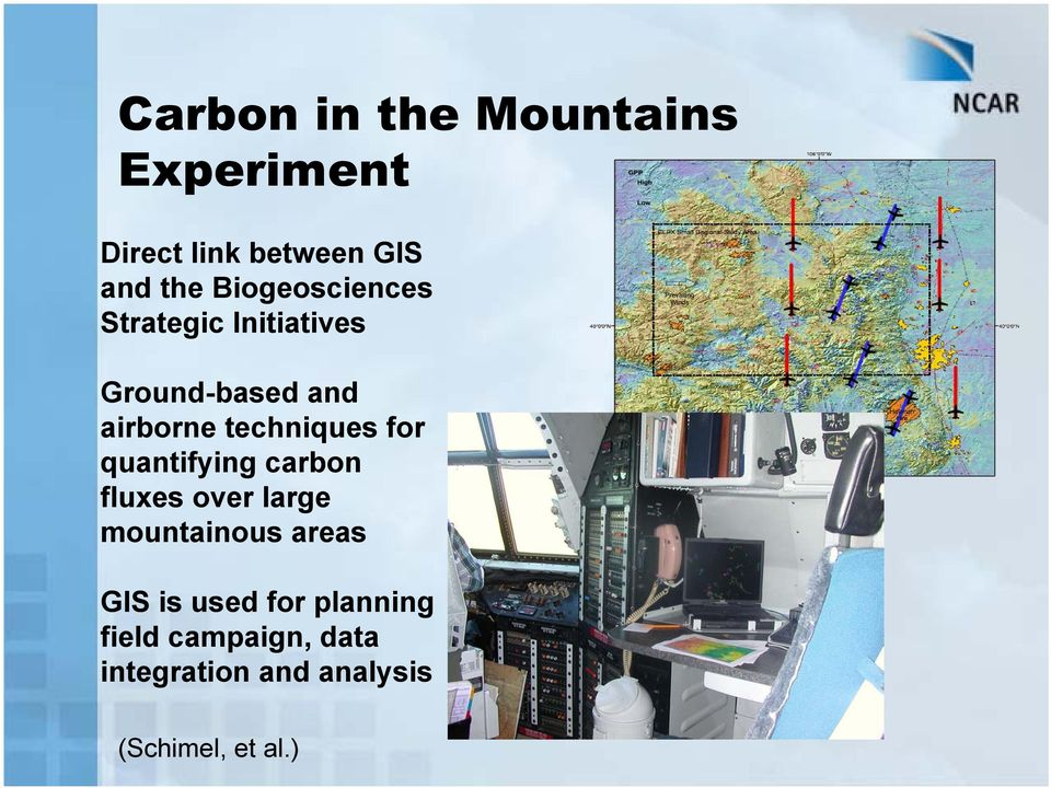 techniques for quantifying carbon fluxes over large mountainous areas