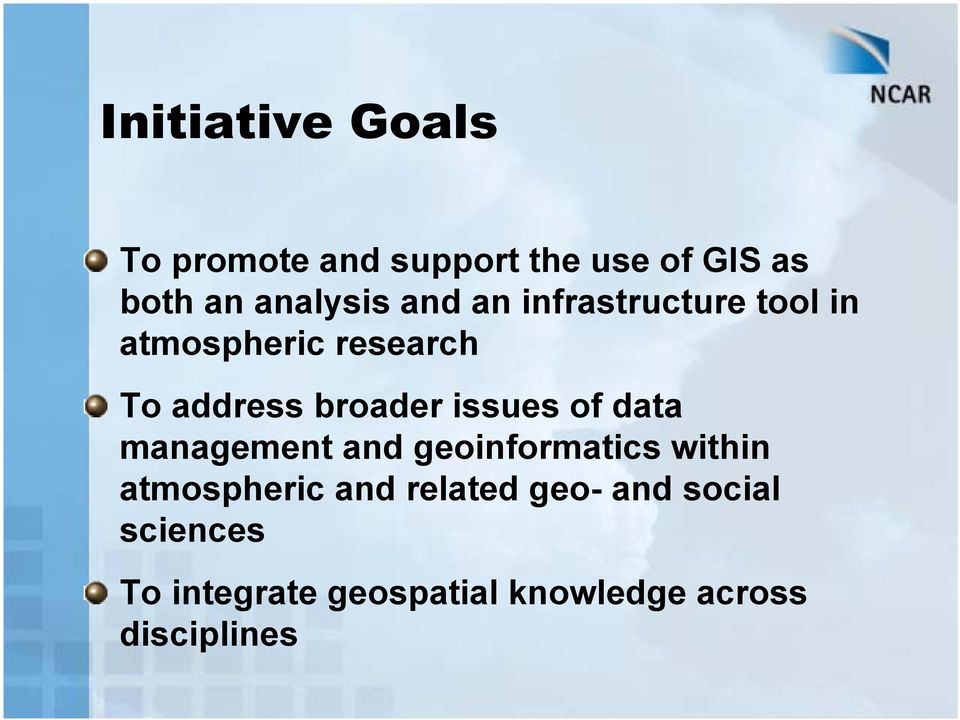 issues of data management and geoinformatics within atmospheric and