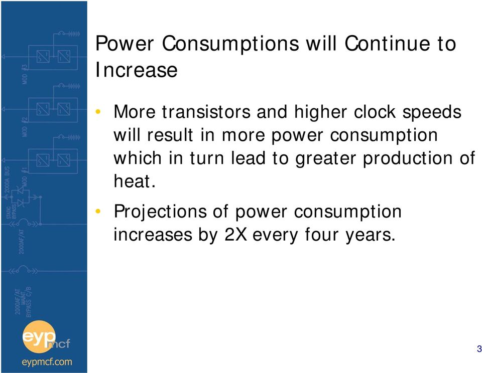 power consumption which in turn lead to greater production