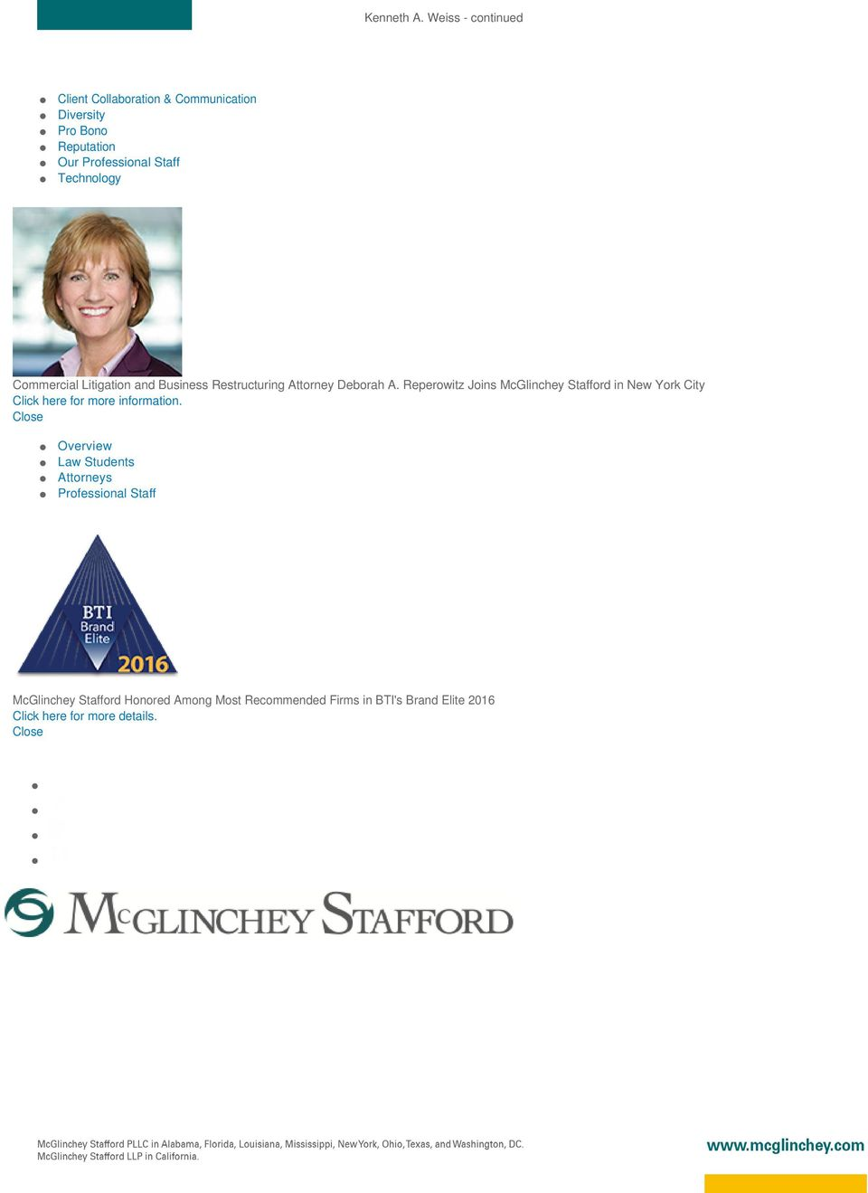 Reperowitz Joins McGlinchey Stafford in New York City Click here for more information.