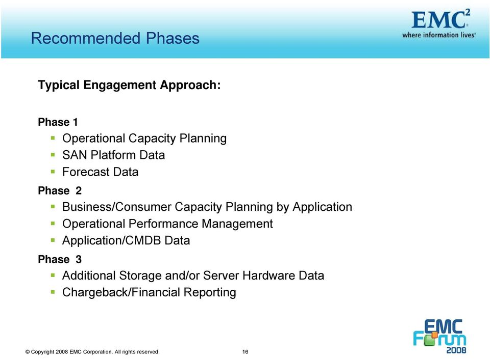 Operational Performance Management Application/CMDB Data Phase 3 Additional Storage and/or