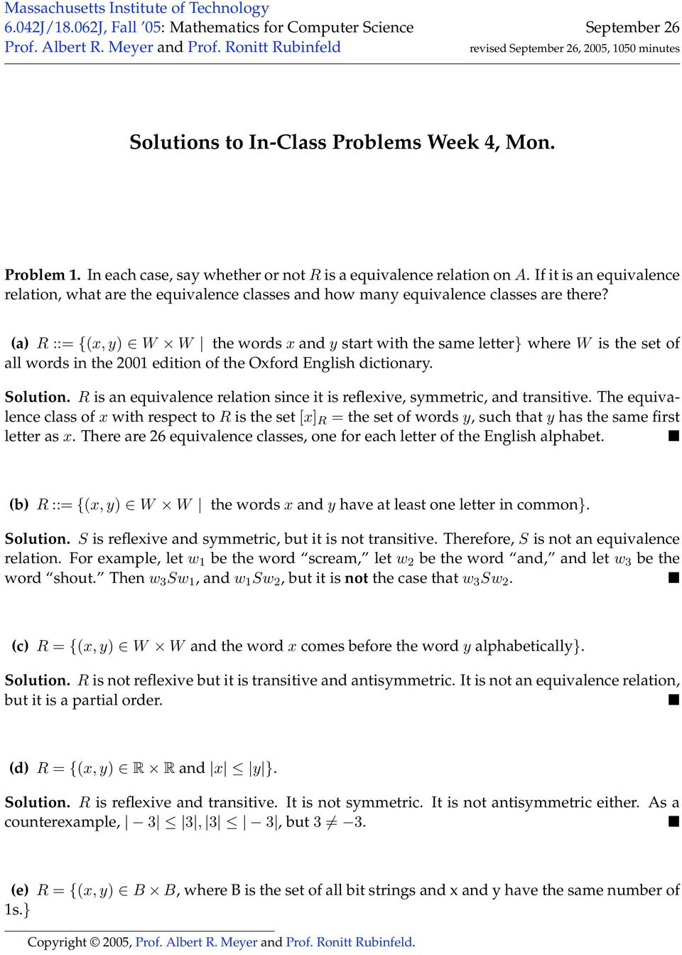 If it is an equivalence relation, what are the equivalence classes and how many equivalence classes are there?