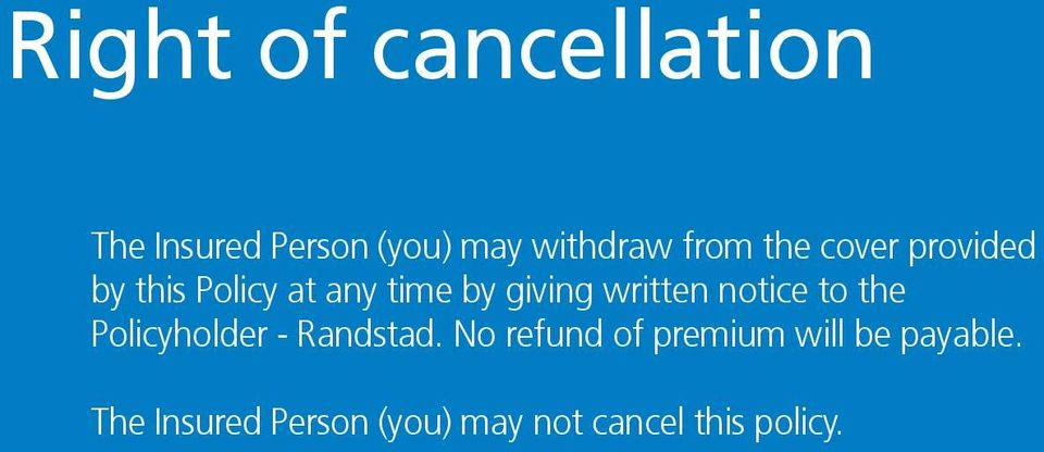 notice to the Policyholder - Randstad.
