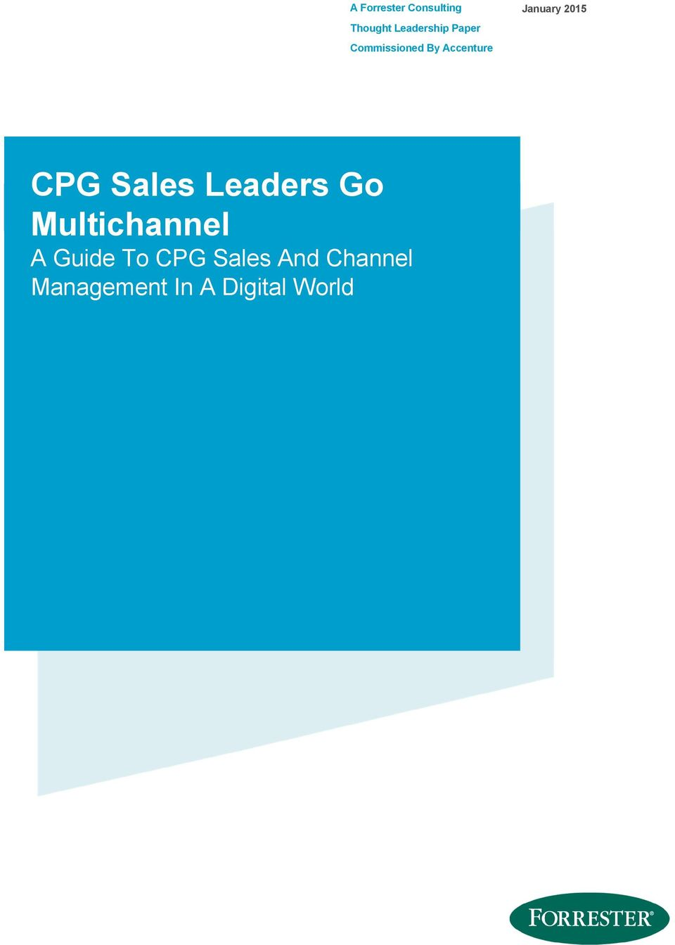CPG Sales Leaders Go Multichannel A Guide To