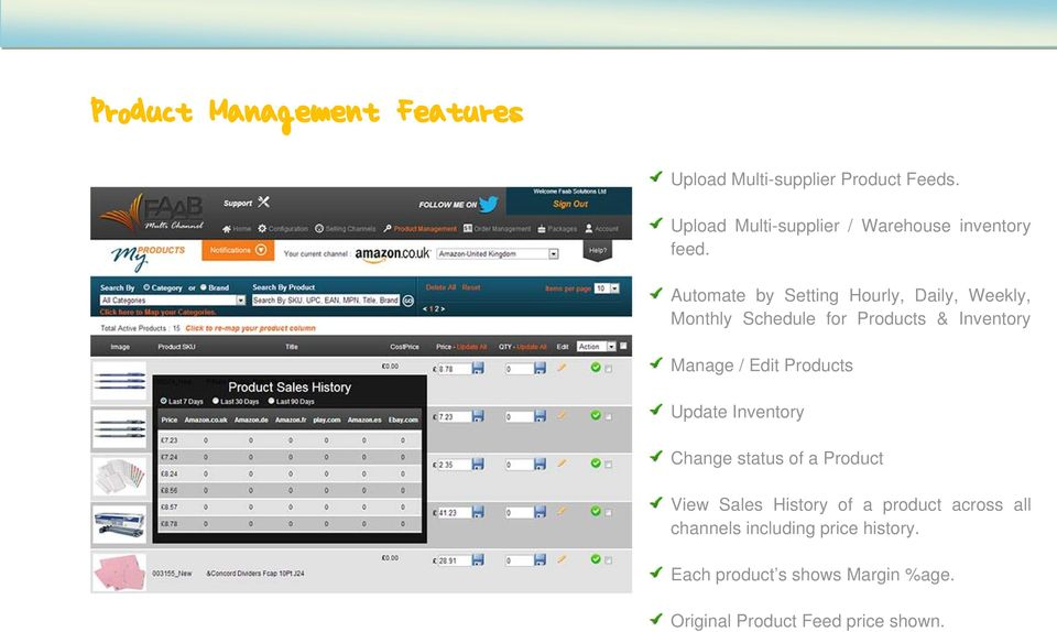 Automate by Setting Hourly, Daily, Weekly, Monthly Schedule for Products & Inventory Manage / Edit