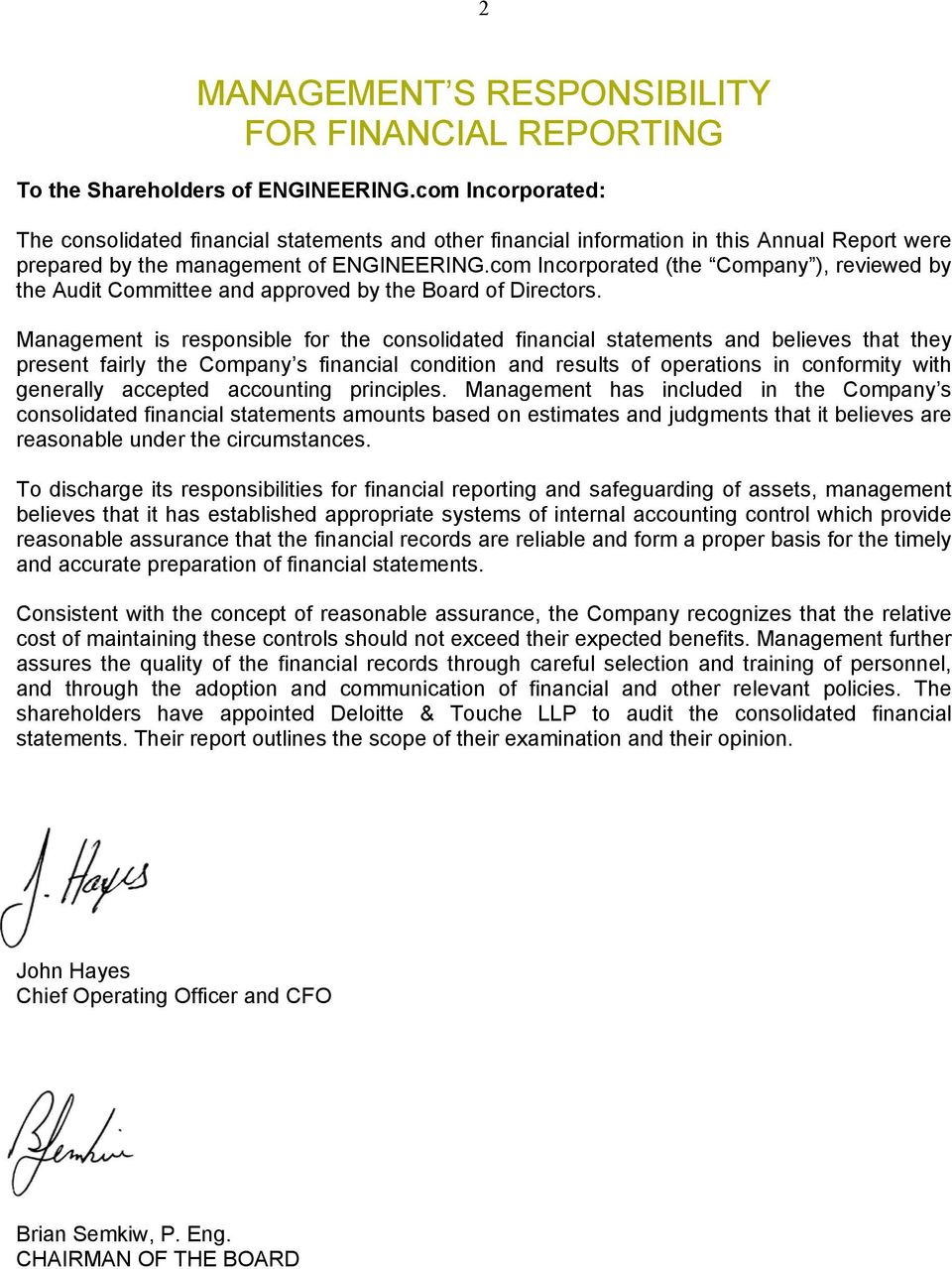com Incorporated (the Company ), reviewed by the Audit Committee and approved by the Board of Directors.