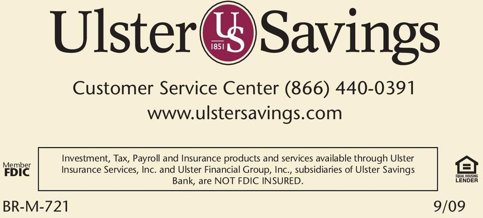services available through Ulster Insurance Services, Inc.