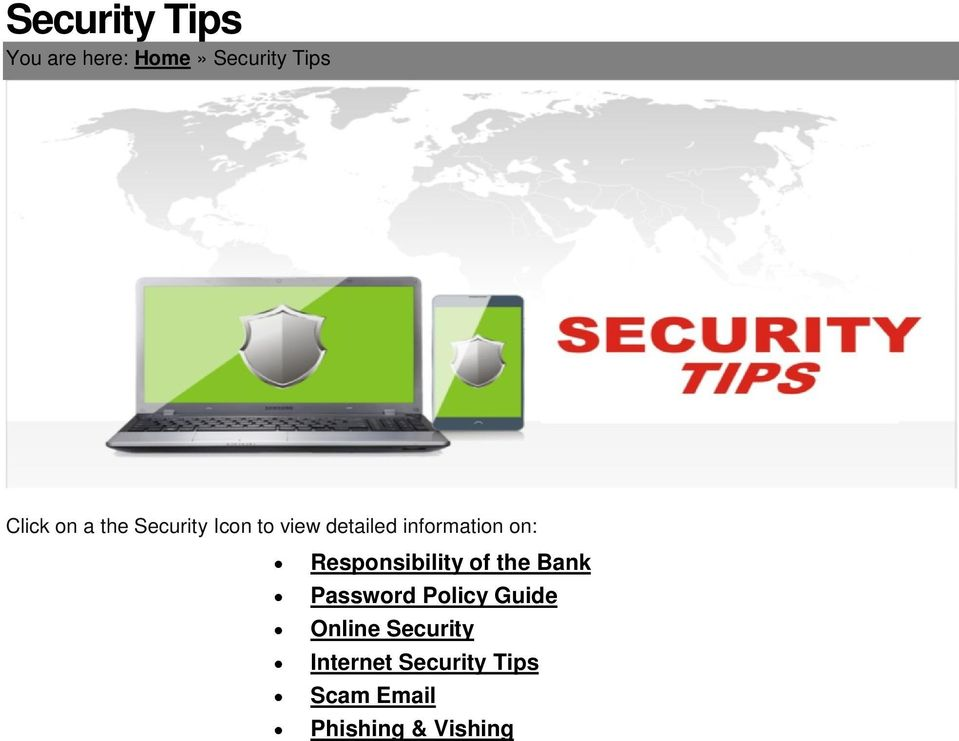 Responsibility of the Bank Password Policy Guide Online