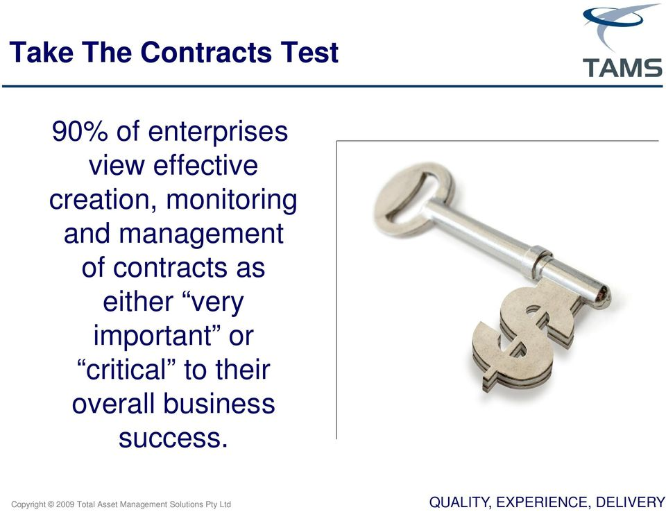 management of contracts as either very