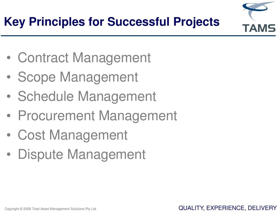 Schedule Management Procurement