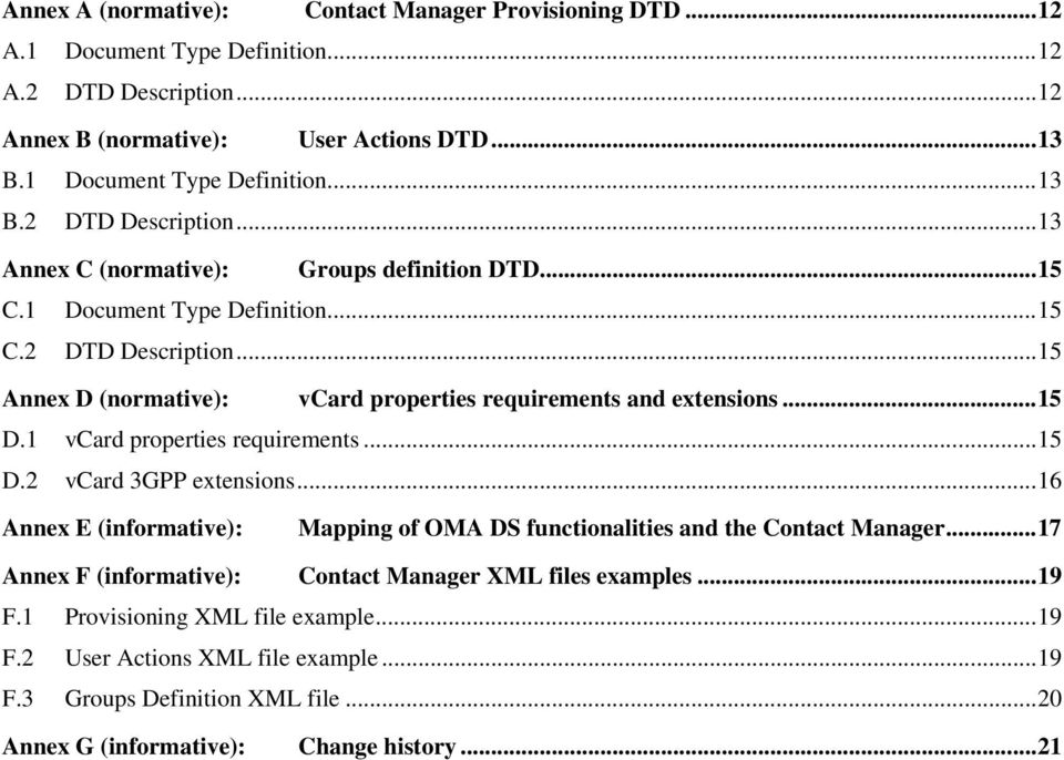 ..16 Annex E (informative): Mapping of OMA DS functionalities and the Contact Manager...17 Annex F (informative): Contact Manager XML files examples...19 F.1 Provisioning XML file example.