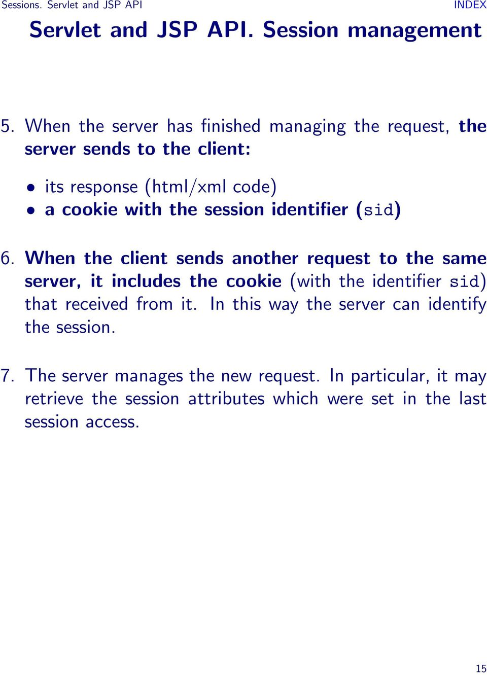 session identifier (sid) 6.