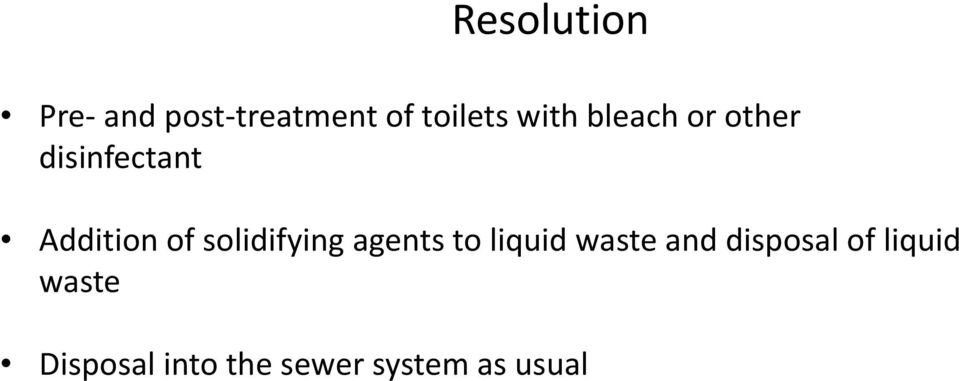 solidifying agents to liquid waste and disposal