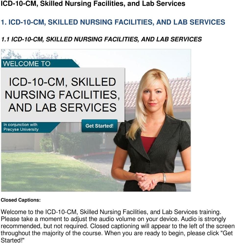 Lab Services training. Please take a moment to adjust the audio volume on your device.