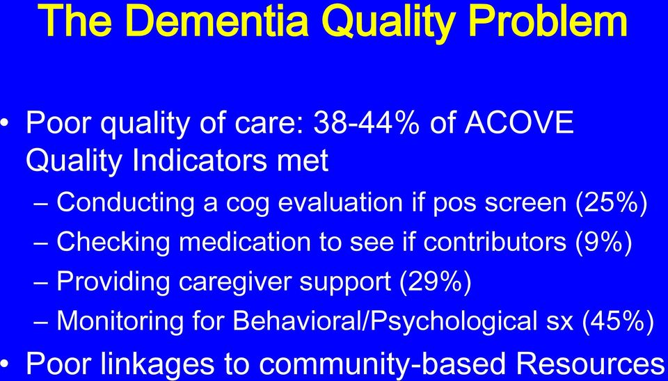 medication to see if contributors (9%) Providing caregiver support (29%)
