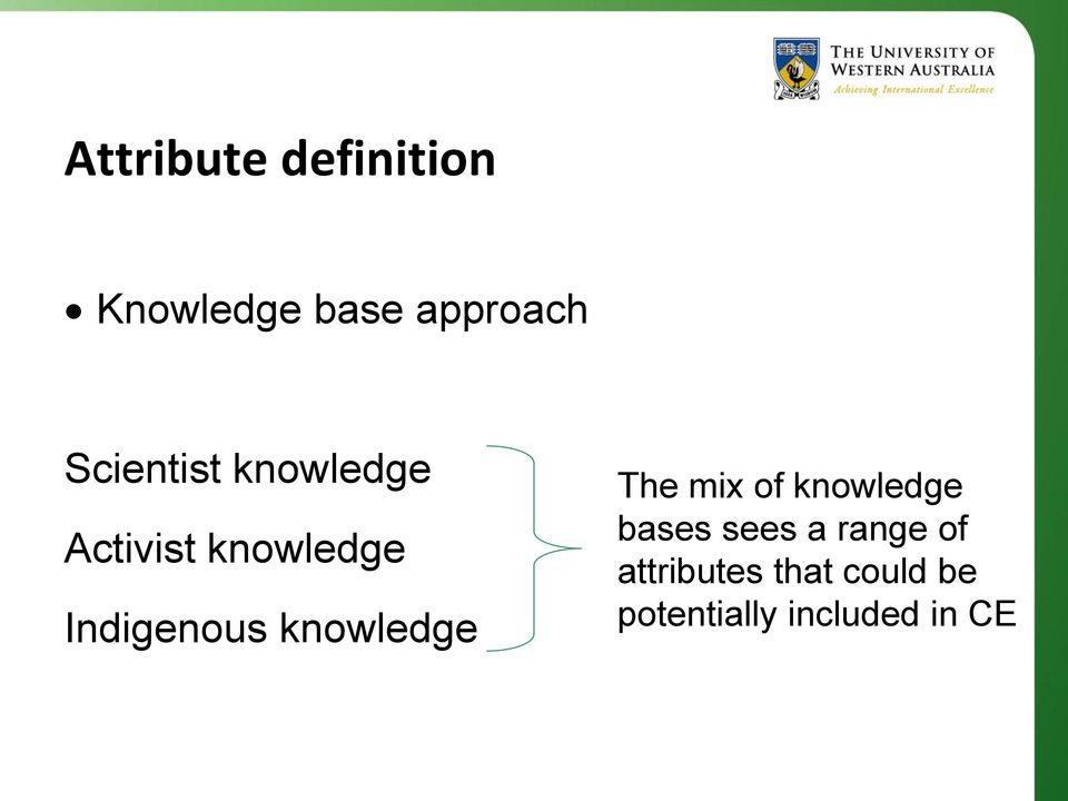 knowledge The mix of knowledge bases sees a range