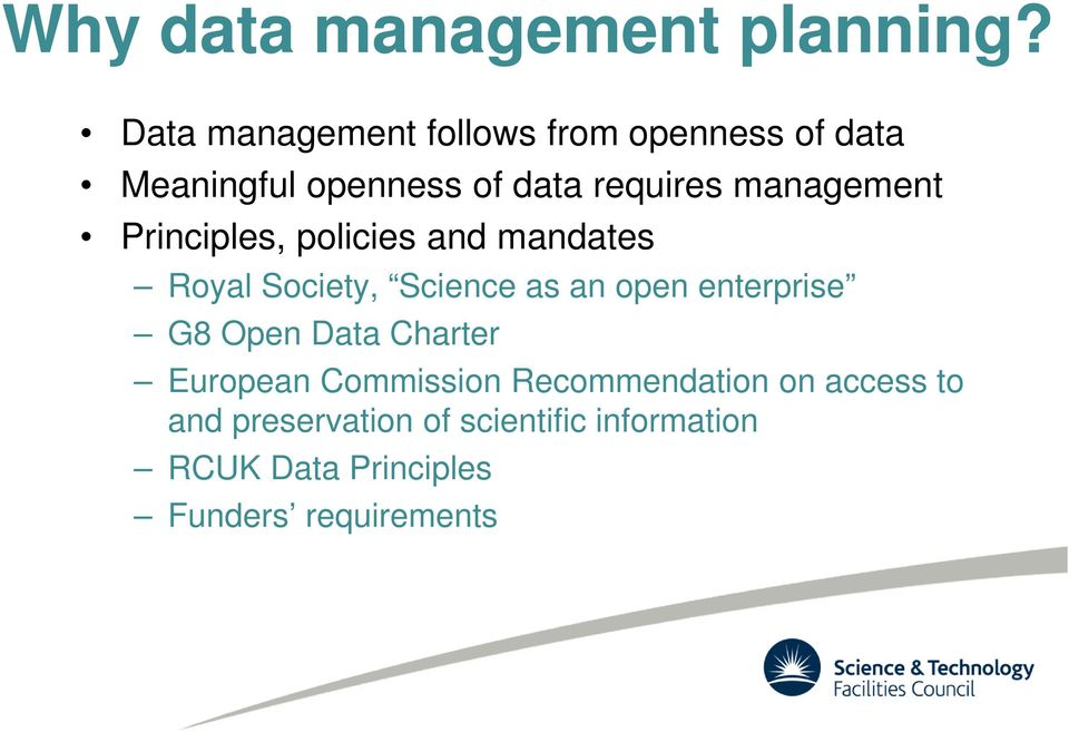 management Principles, policies and mandates Royal Society, Science as an open