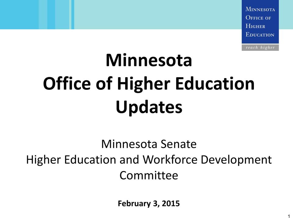 Senate Higher Education and