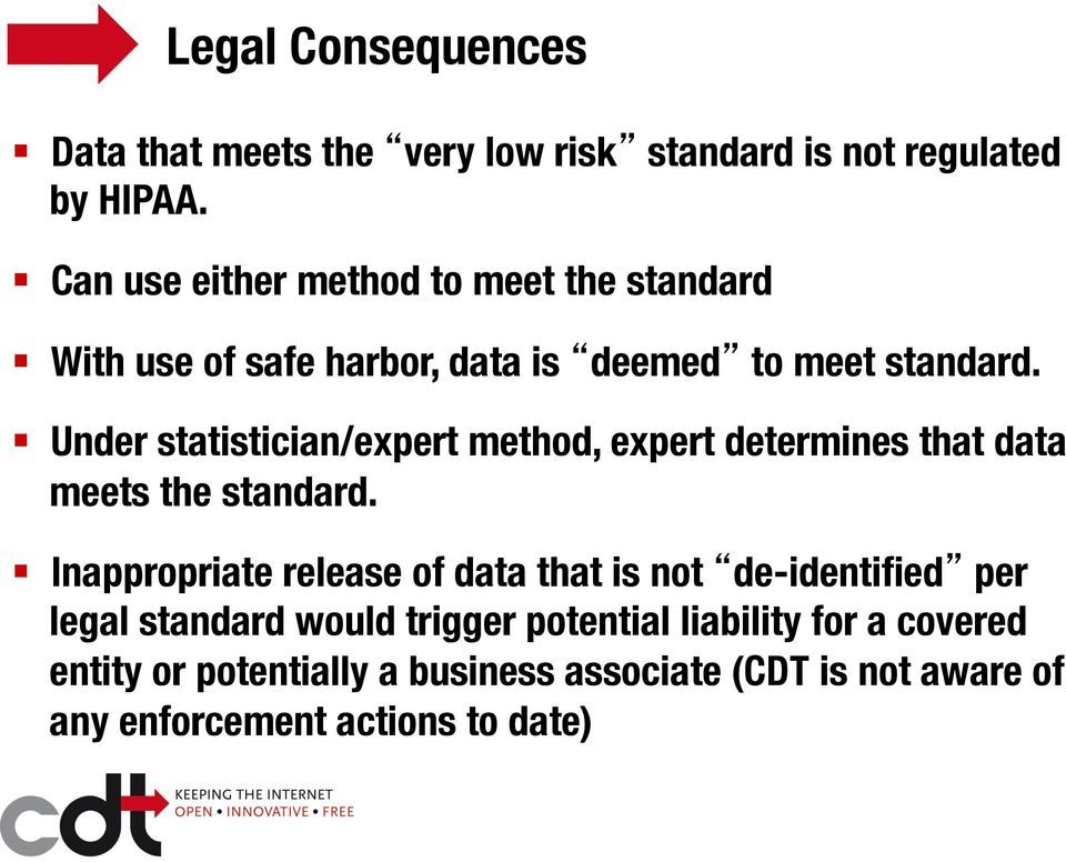 Under statistician/expert method, expert determines that data meets the standard.