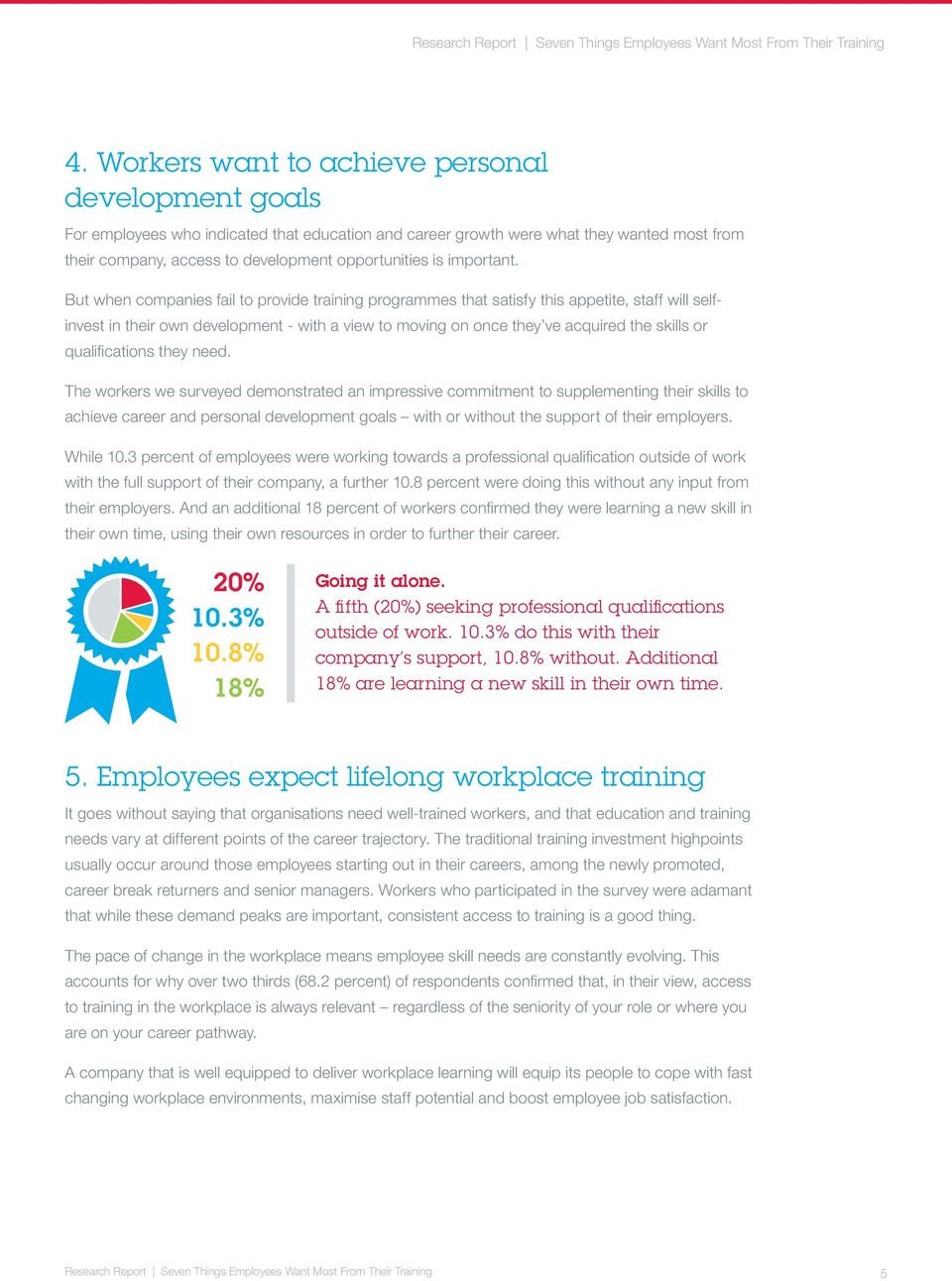 But when companies fail to provide training programmes that satisfy this appetite, staff will selfinvest in their own development - with a view to moving on once they ve acquired the skills or