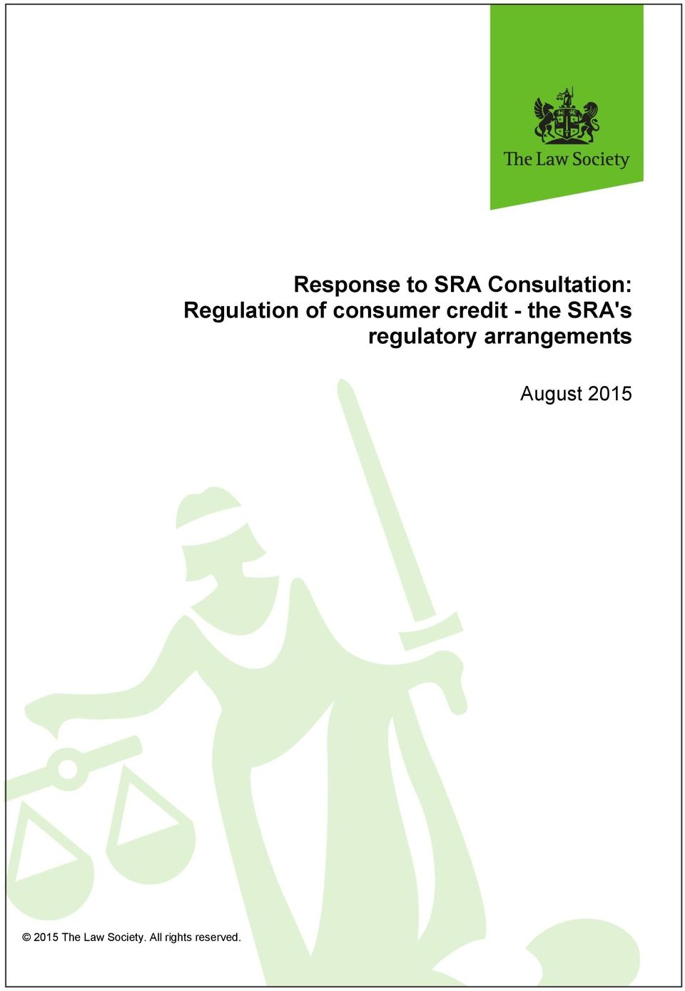SRA's regulatory arrangements August