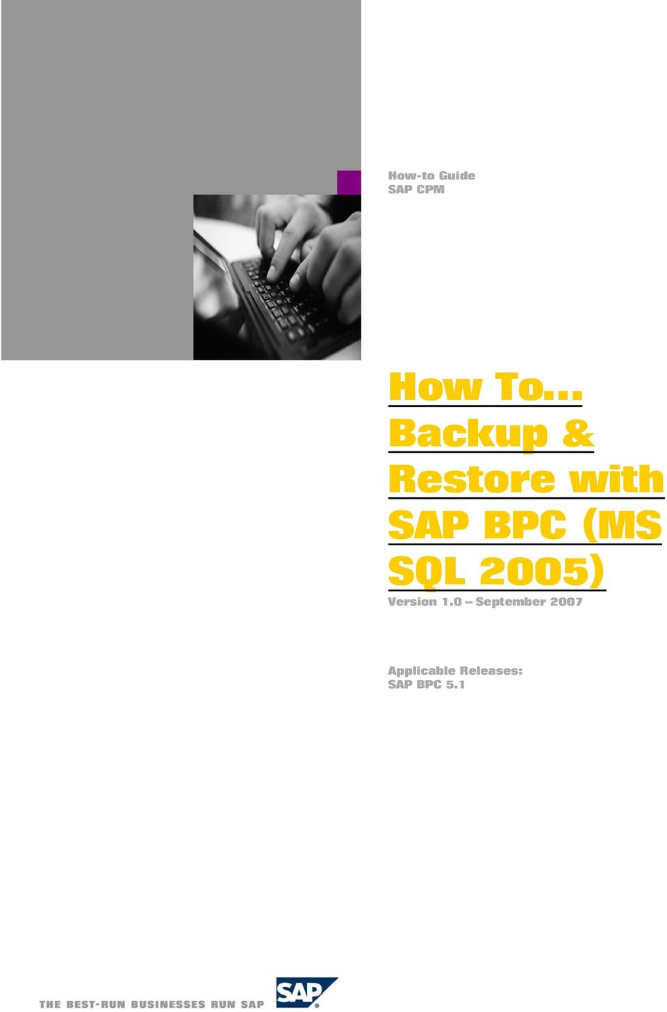 (MS SQL 2005) Version 1.