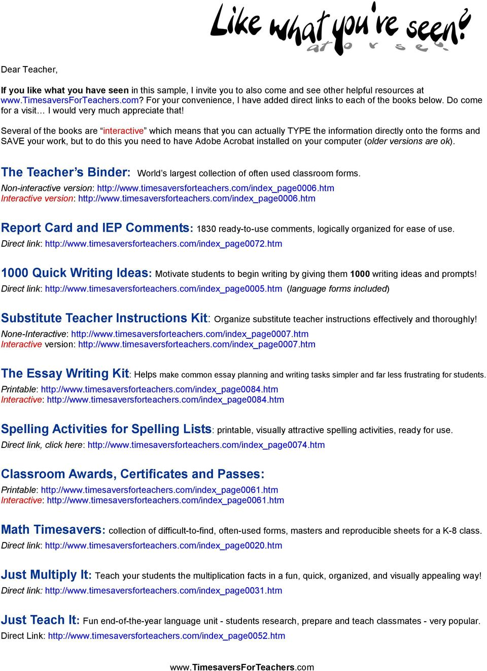 Several of the books are interactive which means that you can actually TYPE the information directly onto the forms and SAVE your work, but to do this you need to have Adobe Acrobat installed on your