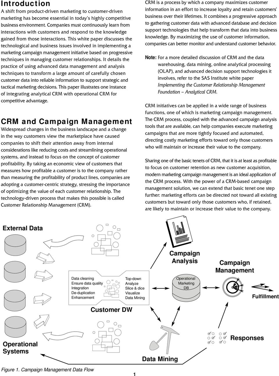 This white paper discusses the technological and business issues involved in implementing a marketing campaign management initiative based on progressive techniques in managing customer relationships.