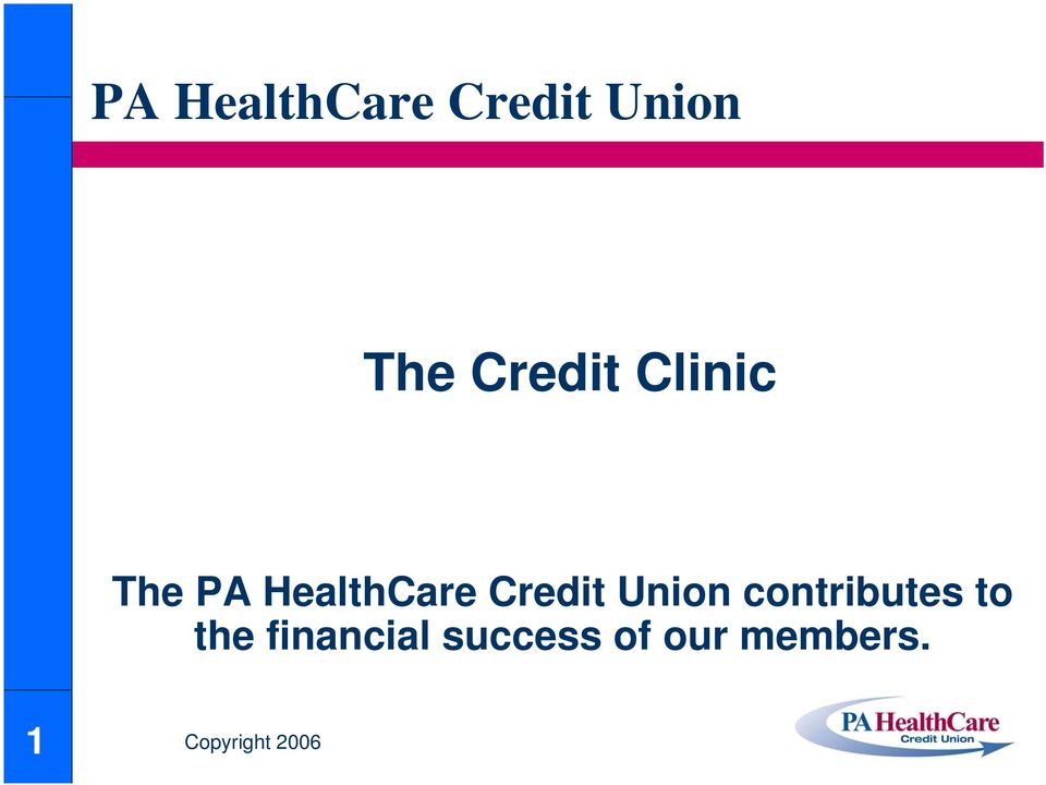 Credit Union contributes to the