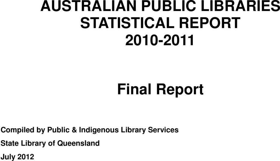 Report Compiled by Public & Indigenous