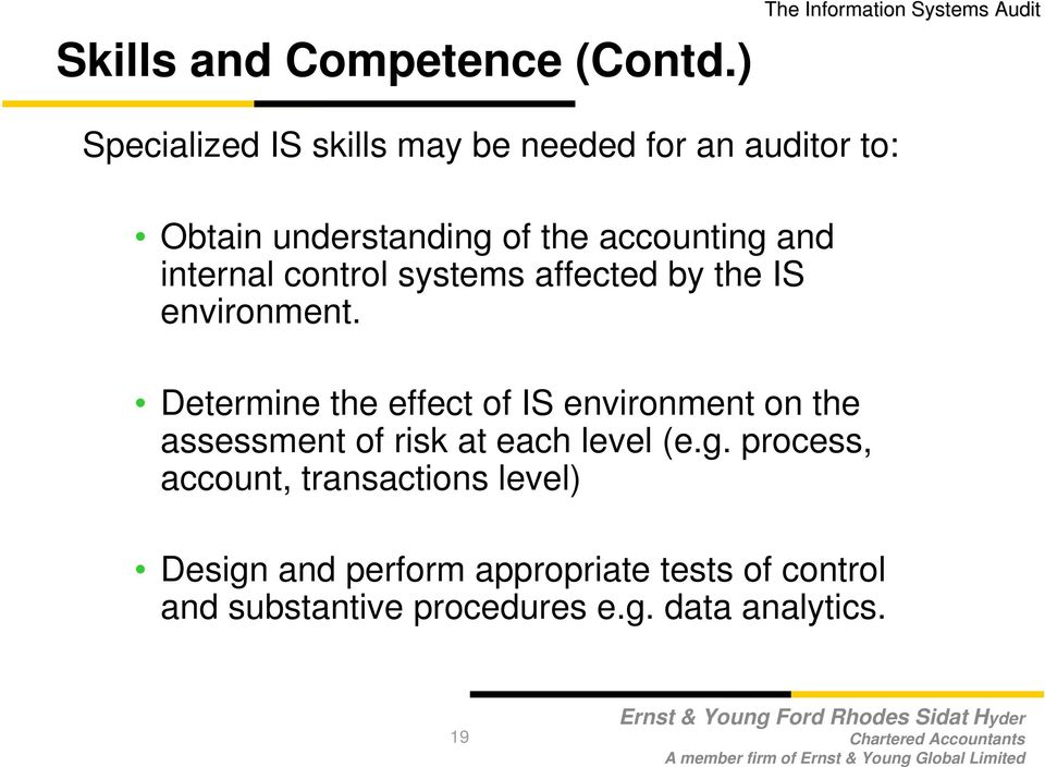 internal control systems affected by the IS environment.