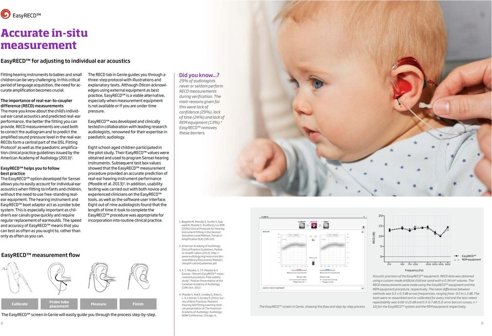 The importance of real-ear-to-coupler difference (RECD) measurements The more you know about the child s individual ear canal acoustics and predicted real-ear performance, the better the fitting you