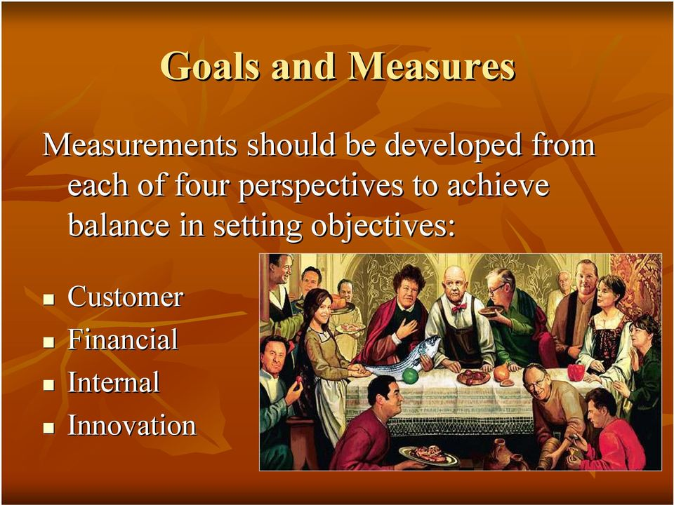 perspectives to achieve balance in