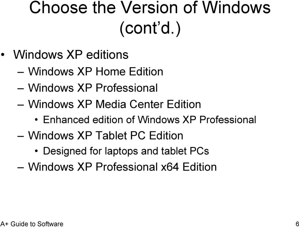 Windows XP Media Center Edition Enhanced edition of Windows XP