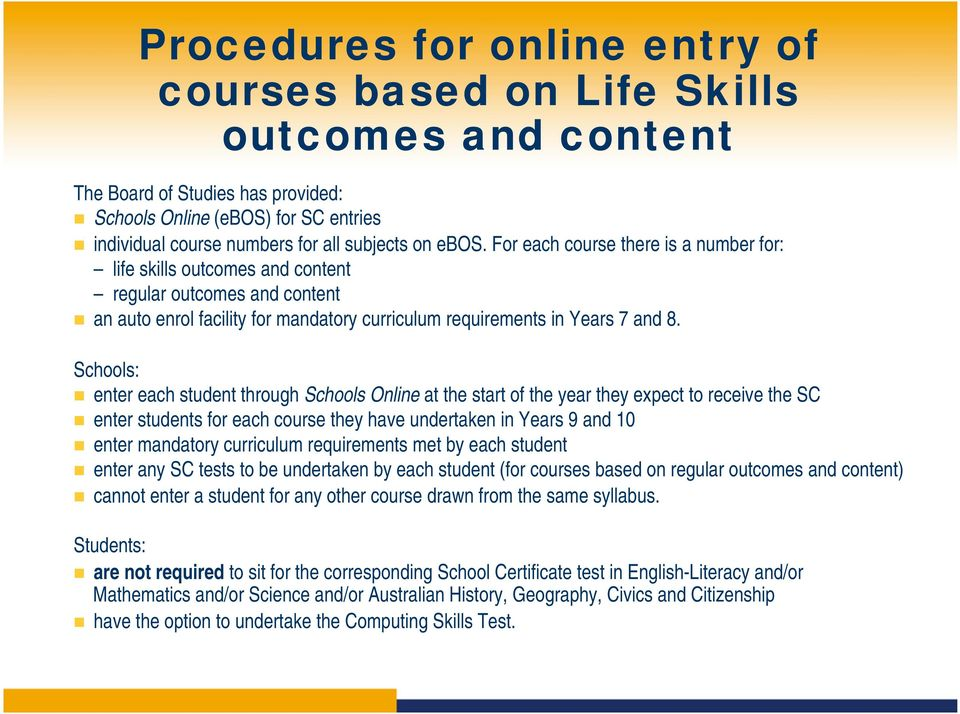 School Certificate Requirements for Students with Special Education ...