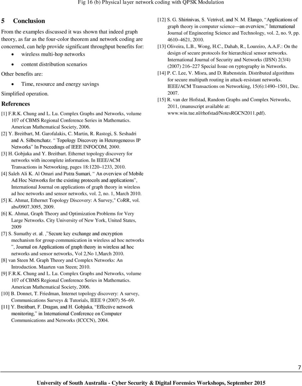 References 1 FRK Chung And L Lu Complex Graphs Networks