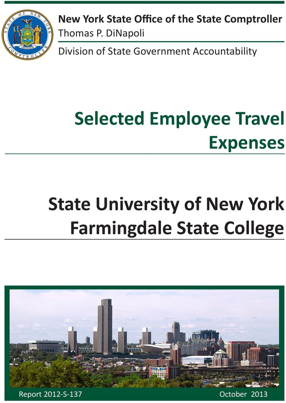 Selected Employee Travel Expenses State University of New